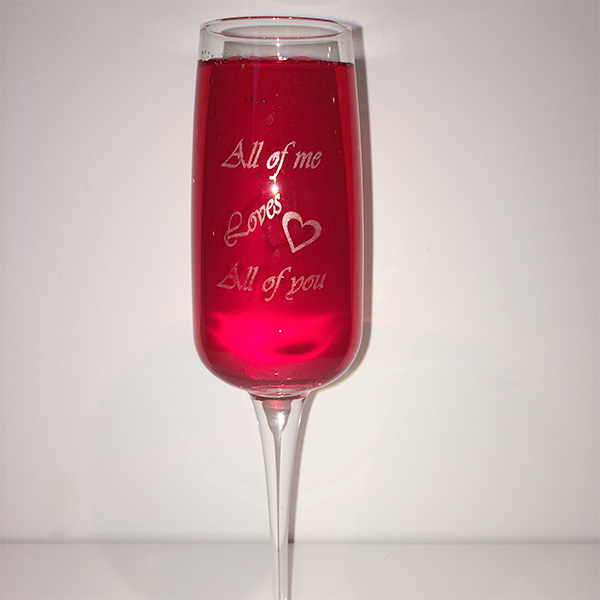 Champagneglas Aurum - All of med loves all of you ljusare